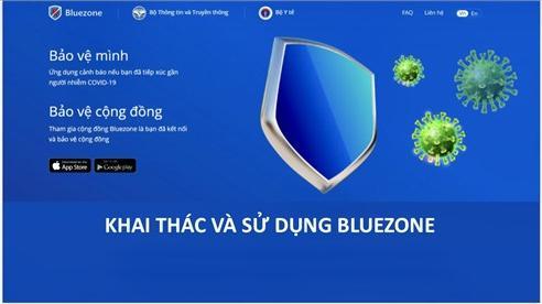 Phát âm thông báo kêu gọi người dân cài đặt Bluezone