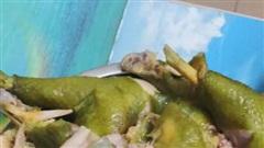 Đĩa gà luộc xanh ngắt một màu vô cùng kỳ lạ khiến chị em tranh cãi khắp các nhóm mạng xã hội