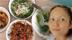 Bắt trend khoe loạt mâm cơm tự nấu, 'gái đảm' H'Hen Niê khiến dân tình mắt tròn mắt dẹt về khả năng bếp núc