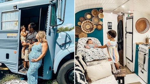 Chùm ảnh: Đôi vợ chồng trẻ biến xe bus thành ngôi nhà di động đẹp như trong cổ tích