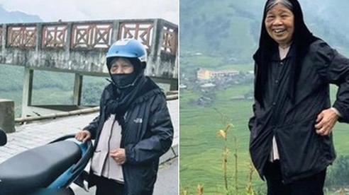 90 tuổi vẫn 'phượt' lên Sapa bằng xe máy, cụ bà 'siêu chất' khiến cộng đồng mạng trầm trồ thán phục