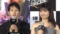 Kim Tae Ri khoe dáng mũm mĩm đáng yêu bên Song Joong Ki tại họp báo phim 'Space Sweepers'