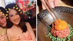 Hoá ra Ngọc Trinh cực mê gỏi thịt bò sống - món ăn 'kinh dị' mà nhiều người không dám thử