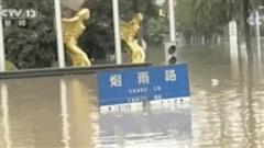 2 đợt lũ trên 2 sông cùng 'tập kích' Trùng Khánh (Trung Quốc): Mênh mông biển nước, nước cao gần bằng biển tên đường