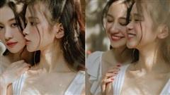 Xuất hiện trong bộ ảnh 'chị chị em em' cùng Jun Vũ, hot girl Linh Ka gây bất ngờ khi lấp ló vòng một sexy