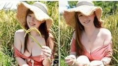 Đội mũ rơm ngồi thả dáng bên đồng lúa, cô nàng bất ngờ trở nên nổi tiếng, được phong là hot girl 'nông thôn' chỉ sau vài bức ảnh