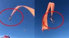 Khoảnh khắc đáng sợ: Em bé đang chơi thả diều thì bị gió mạnh hất tung lên trời khiến những người chứng kiến phải thót tim