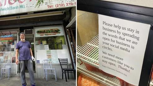 Cửa hàng bánh mì Việt tại Mỹ 'cầu cứu' trước ảnh hưởng của dịch Covid-19, đạt hơn 46k lượt likes chỉ sau 1 ngày