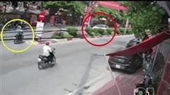 CLIP: Phóng ngược chiều tông kinh hoàng vào xế hộp Lexus, thanh niên lái xe máy trọng thương