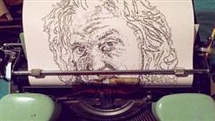 Kinh ngạc những bức chân dung từ máy đánh chữ