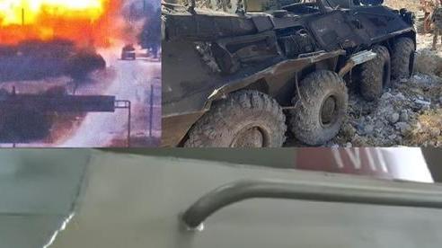 'Què quặt' sau phục kích ở Syria, xe bọc thép BTR-80 Nga tái xuất với thông điệp cực gắt!
