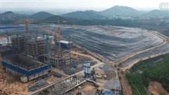 Video: Cận cảnh Nhà máy điện rác Sóc Sơn quy mô 7.000 tỷ đồng đang được gấp rút thi công