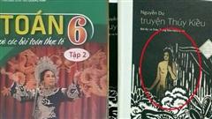 Những bìa sách 'gây lú' mạnh: Sách Toán nhưng lại in ảnh nghệ sĩ cải lương, sách 'Truyện Thúy Kiều' thì để ảnh khỏa thân lên bìa