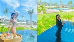 Bị dân mạng góp ý 'mặc bikini xuống hồ bơi ăn sáng là phản cảm', Thuỷ Tiên đáp trả bằng loạt ảnh khiến ai cũng cười ra nước mắt