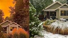 Một tiểu bang Mỹ vừa chứng kiến thời tiết 'quay xe' gắt chưa từng thấy: Từ nóng kỷ lục chuyển thành bão tuyết trong vỏn vẹn 2 ngày