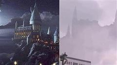 Tòa lâu đài Hogwarts nổi tiếng bất ngờ xuất hiện giữa trời, mờ ảo sau màn mây khiến dân mạng được phen xôn xao
