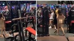 Không cho dắt mèo vào tập gym cùng, cô gái ngang ngược cởi hết đồ đạc đi tới đi lui trong phòng tập khiến ai cũng ngỡ ngàng