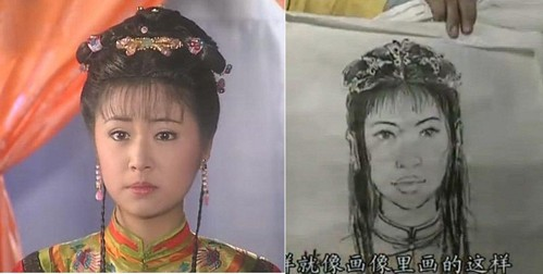 Cười ngoác mồm với tranh chân dung của mỹ nam mỹ nữ trong phim cổ trang Trung Quốc