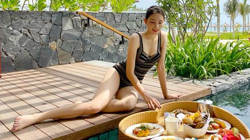 Lần hiếm hoi Linh Rin khoe ảnh 'hở da thịt', body thế này bảo sao em chồng Hà Tăng mê đắm đuối