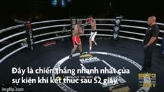 """Chỉ bằng 3 cú đấm, võ sĩ khiến đối thủ """"quay cuồng trong cơn mê"""""""