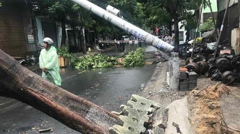Mạng xã hội lan truyền tin cột điện 'không có thép' gãy trong bão số 5, ngành điện Đà Nẵng nói gì?
