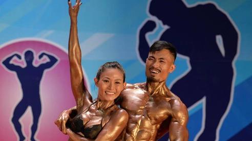 Hot TikToker Phan Bảo Long giành HCV thể hình đôi nam nữ quốc gia
