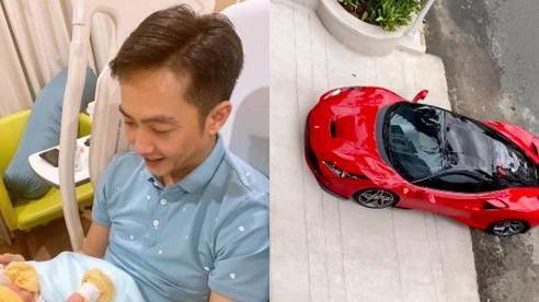 Cường Đô La than thở việc ở nhà chăm con gái cho Đàm Thu Trang lái siêu xe bạc tỉ đi cafe chiều chủ nhật
