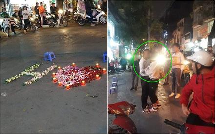 Hì hục xếp nến hoa giữa đường để tỏ tình, chàng thanh niên bẽ mặt khi bị chê trông như 'cúng cô hồn' và cái kết khó tả