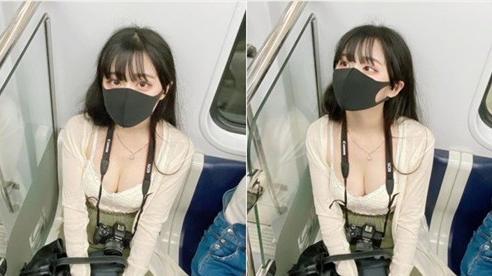 Phát hiện bị chụp lén, cô nàng hot girl chẳng những không khó chịu còn tự tin nhìn thẳng lại, nhan sắc thật khiến tất cả ngỡ ngàng