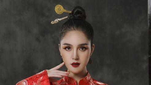Á hậu Hoàng Anh đài các trong thiết kế cổ phục Việt