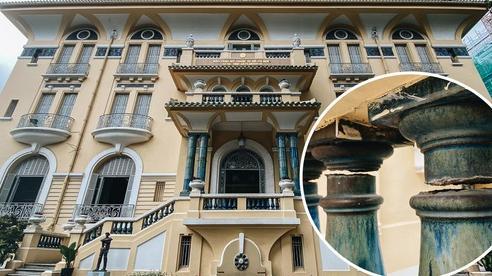 Bảo tàng Mỹ thuật 99 cửa ở trung tâm Sài Gòn bị sụt lún, nứt nghiêm trọng khiến du khách bất an