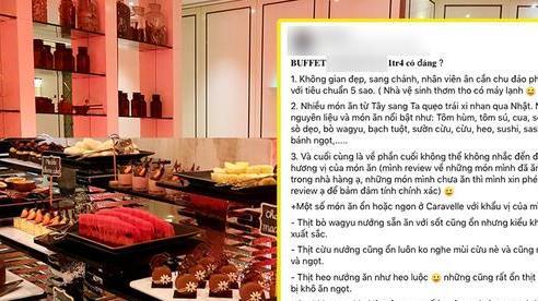 SỐC: Khách review buffet không ưng ý, nhân viên khách sạn 5 sao ở Sài Gòn mỉa mai: '1tr4 to quá, ăn 140k ở chợ Bến Thành còn hơn đó'