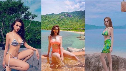 Mừng sinh nhật U40, Huyền Baby thả dáng bikini 'mướt' như 'gái mười tám'