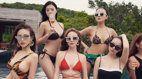 Dàn khách mời mặc bikini chúc mừng sinh nhật Huyền Baby