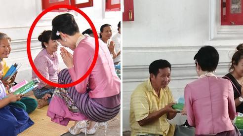 Chỉ bằng cử chỉ đầy tinh tế được trông thấy liên tục thời gian qua, Hoàng quý phi Thái Lan đã ghi điểm tuyệt đối trong lòng dân chúng
