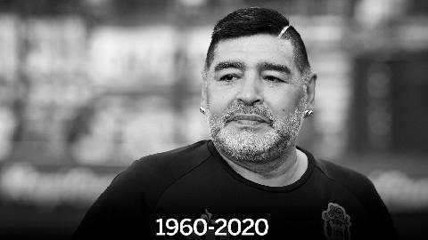 Huyền thoại bóng đá Maradona qua đời ở tuổi 60