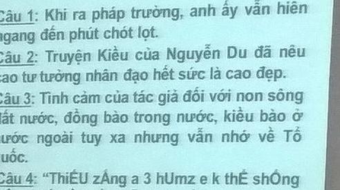 Đề Văn yêu cầu dịch teencode, tưởng không khó mà lại khiến học trò 'xanh mặt'