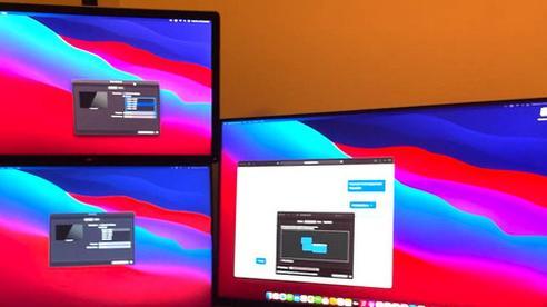Máy Mac dùng chip Apple M1 có thể kết nối tối đa 6 màn hình nhờ giải pháp thay thế đặc biệt