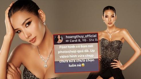 Hoàng Thùy đáp trả netizen khi bị nói photoshop quá đà, đăng trọn bộ ảnh gốc 'tốt gỗ hơn tốt nước sơn'