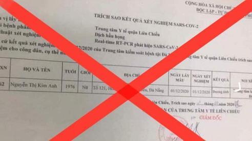 Bộ Y tế bác bỏ tin có ca dương tính với SARS-CoV-2 ở Đà Nẵng