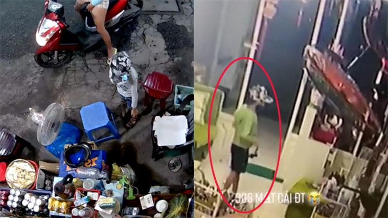 Xuất hiện clip trộm điện thoại 30s được cho là cậu bé trong vụ lấy cắp túi tiền của cụ hàng nước vỉa hè