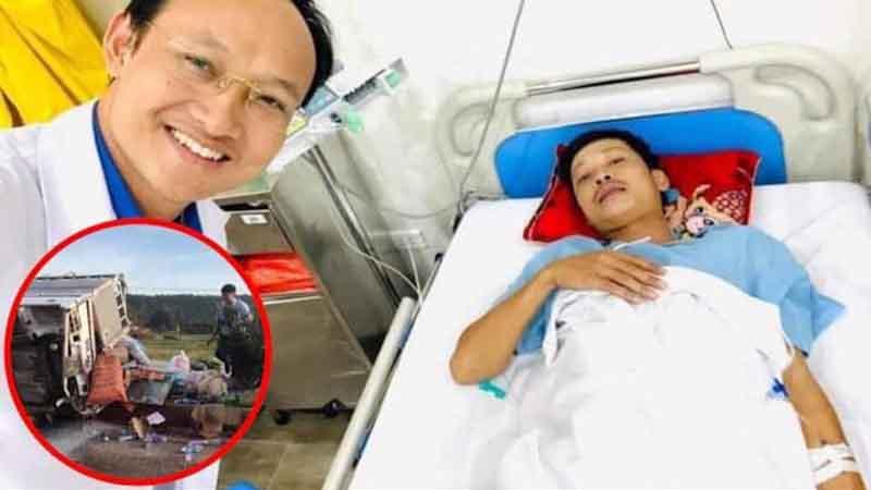Tài xế chở hàng cứu trợ miền Trung gặp tai nạn lật xe đã bình phục kỳ diệu, sắp xuất viện trong thời gian tới
