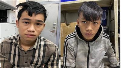 2 nghi can cướp giật khi bị bắt