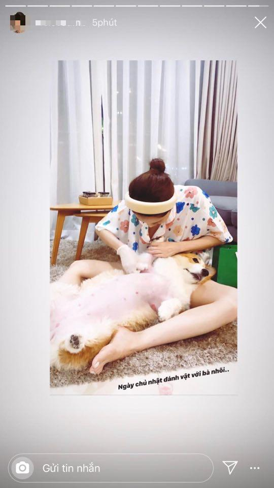 Bạn gái tin đồn Soobin khoe ảnh chăm sóc thú cưng được cho là cả hai cùng nuôi.
