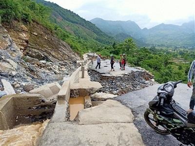 Hình ảnh thiệt hại tại xã Thuận Hoà huyện Vị Xuyên
