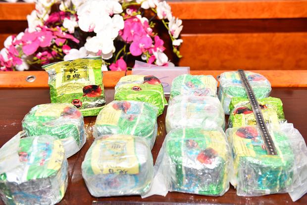 Công an đã bắt giữ được 22 đối tượng thu giữ 158kg ma tuý tổng hợp, 19 bánh heroin cùng nhiều tang vật khác.