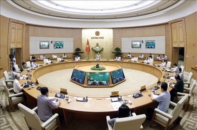 Cuộc họp Thường trực Chính phủ với 63 tỉnh, thành. Ảnh: TTXVN