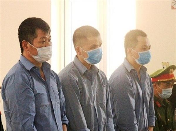 Ba bị cáo bị tuyên án tử trong vụ án vận chuyển ma túy - Ảnh: Công an Cao Bằng
