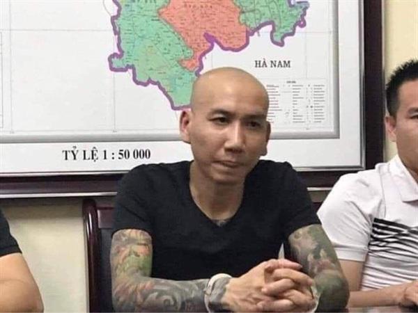 Phú Lê (40 tuổi, quê ở Yên Bái), tại cơ quan công an.