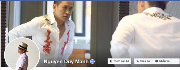 Duy Mạnh thừa nhận Facebook Nguyen Duy Manh là tài khoản chính chủ của mình.